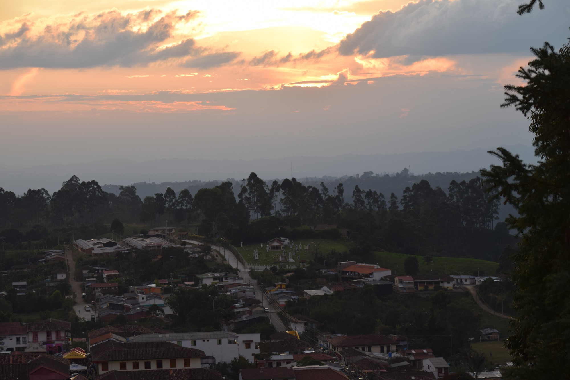 Sunset at Mirador Salento, Quindío — Colombia